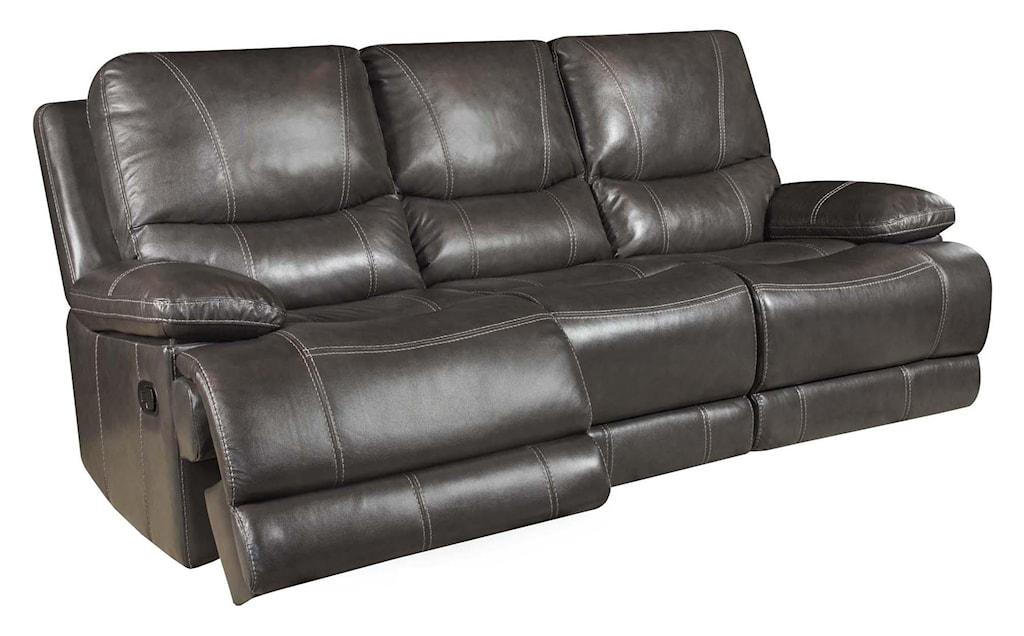 Corinthian Brooklyn Charcoal 42801 30 Brooklyn Charcoal Leather  ~ Charcoal Gray Leather Sofa