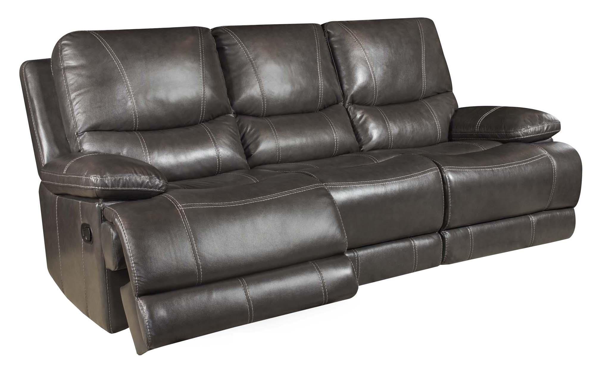 Corinthian Brooklyn Charcoal 42801 30 Brooklyn Charcoal Leather Reclining  Sofa