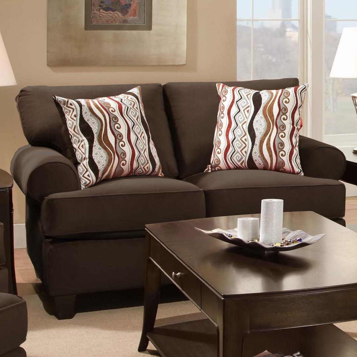 Casual and Contemporary Living Room Loveseat