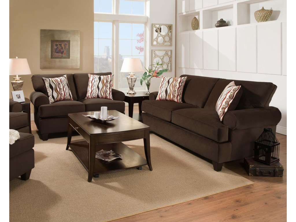Shown with Coordinating Collection Loveseat. Collection Chair and Ottoman Shown Left Side. Sofa Shown May Not Represent Exact Features Indicated.