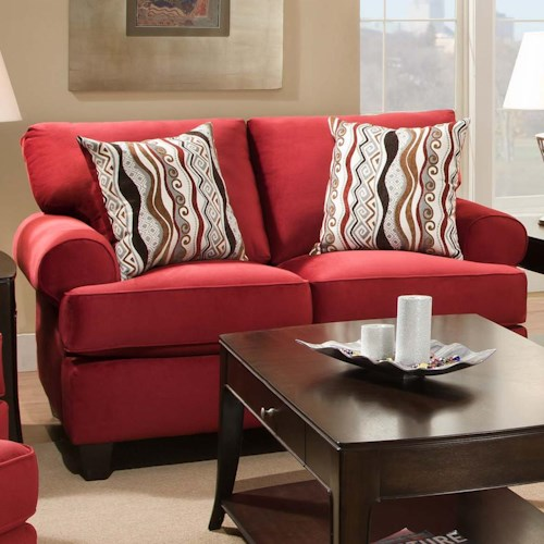 Corinthian 47B0  Casual and Contemporary Living Room Loveseat