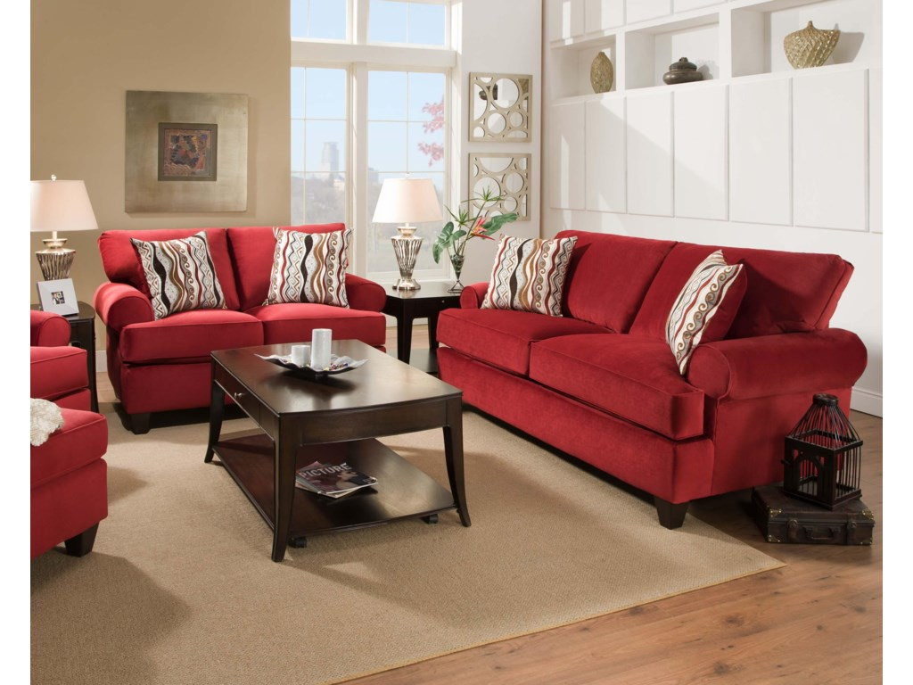 Shown with Coordinating Collection Sofa. Collection Chair and Ottoman Shown Left Side.
