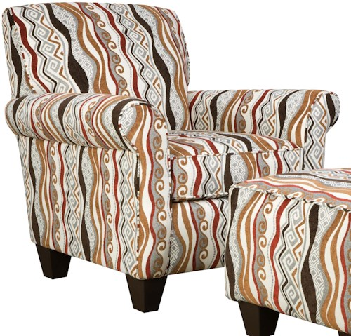 Corinthian 47A0 and 47B0 Contemporary Specialty Accent Chair