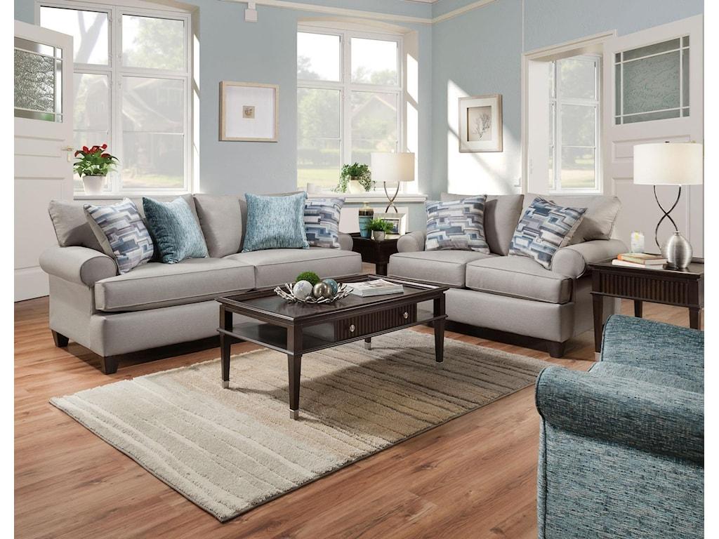 Corinthian Hogan NickelQueen Sleeper Sofa