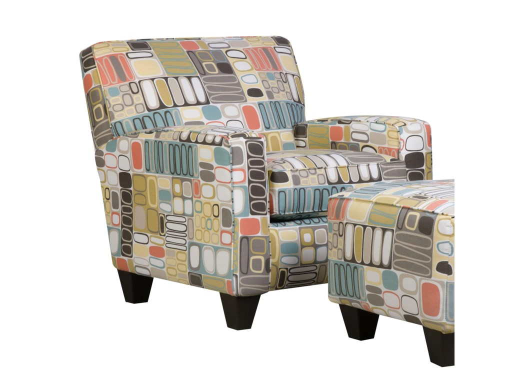 Corinthian 49A0Chair and Ottoman Set