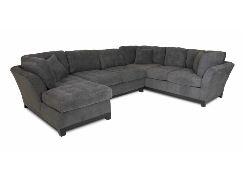 Corinthian LoxleyCharcoal Left Side Facing Chaise Sectional