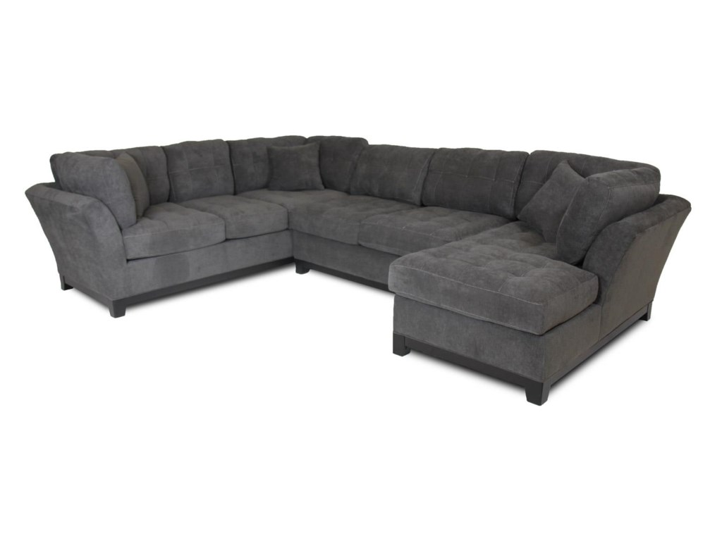 Corinthian LoxleyCharcoal Right Side Facing Chaise Sectional