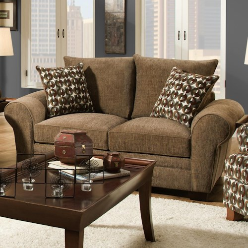 Corinthian 5460 Traditional Styled Loveseat with Comfortable Look for Casual Family Living