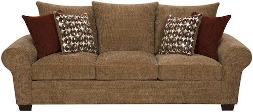 Corinthian 5460 Elegant and Casual Living Room Sofa for Family Styled Comfort