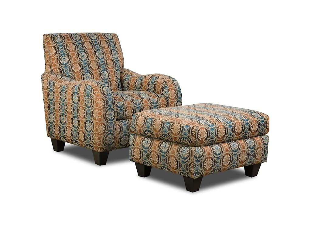 Corinthian 5510 Chair and Ottoman