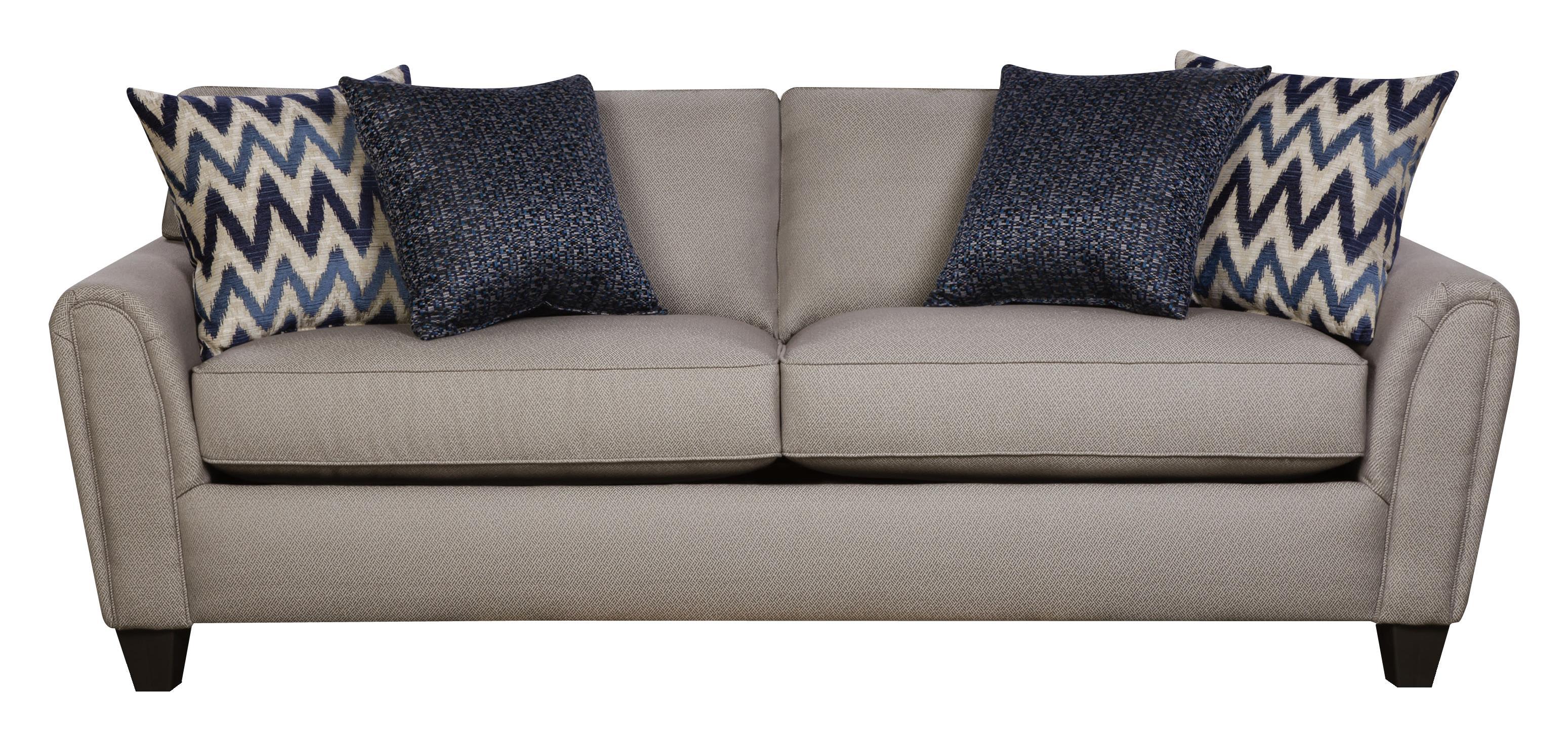 Corinthian 55A0 Casual Contemporary Sofa With Accent Pillows
