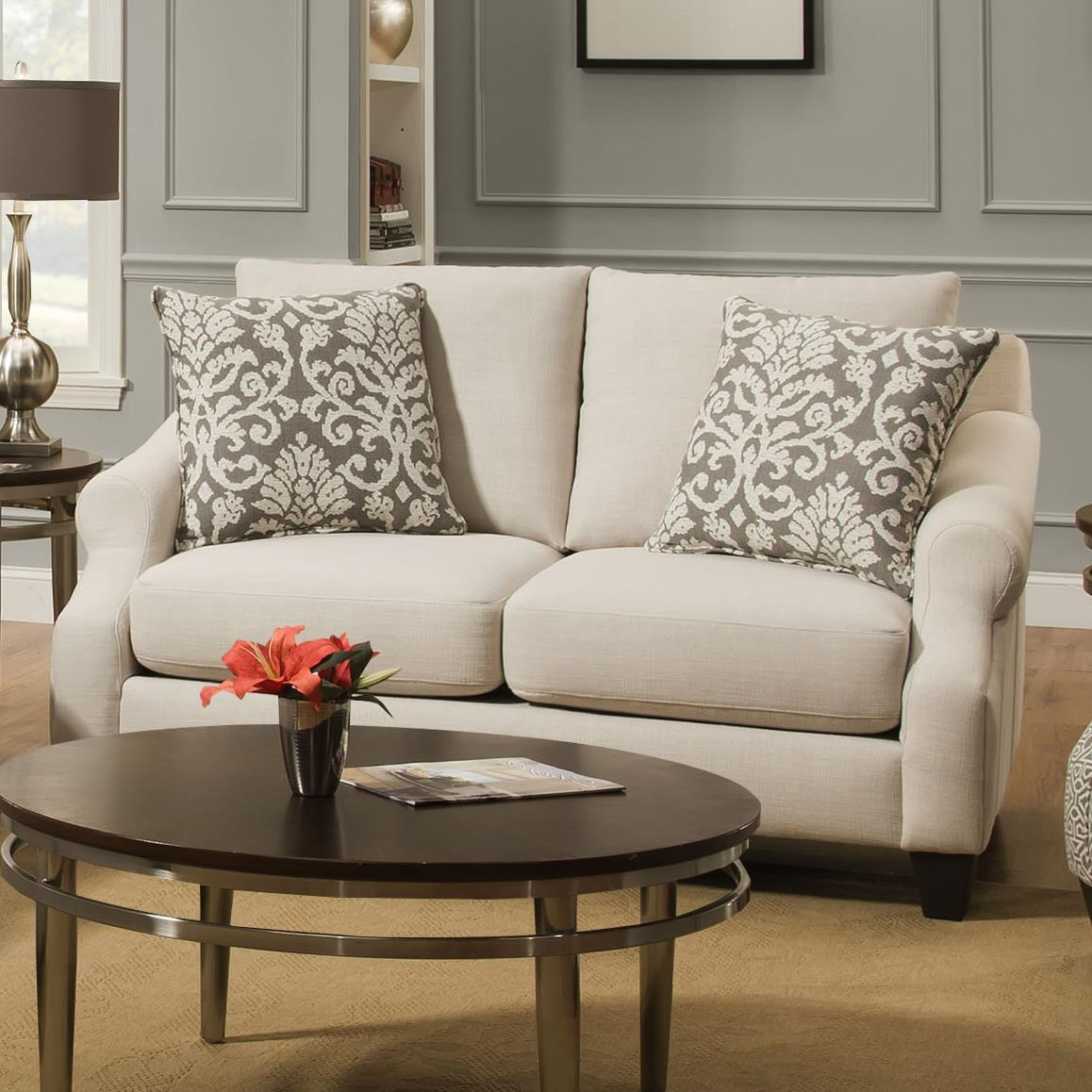 Corinthian 56A0 Loveseat With Casual Elegance
