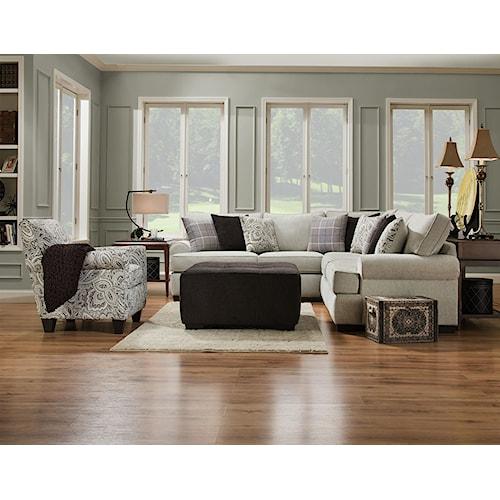 Corinthian 5900 Armless chair