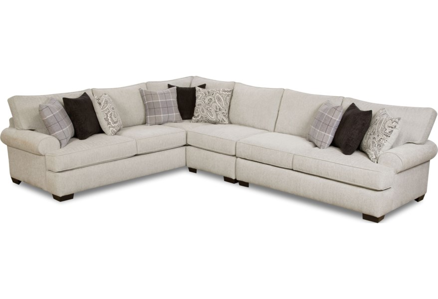 5900 5-Seat Sectional Sofa by Corinthian at Standard Furniture