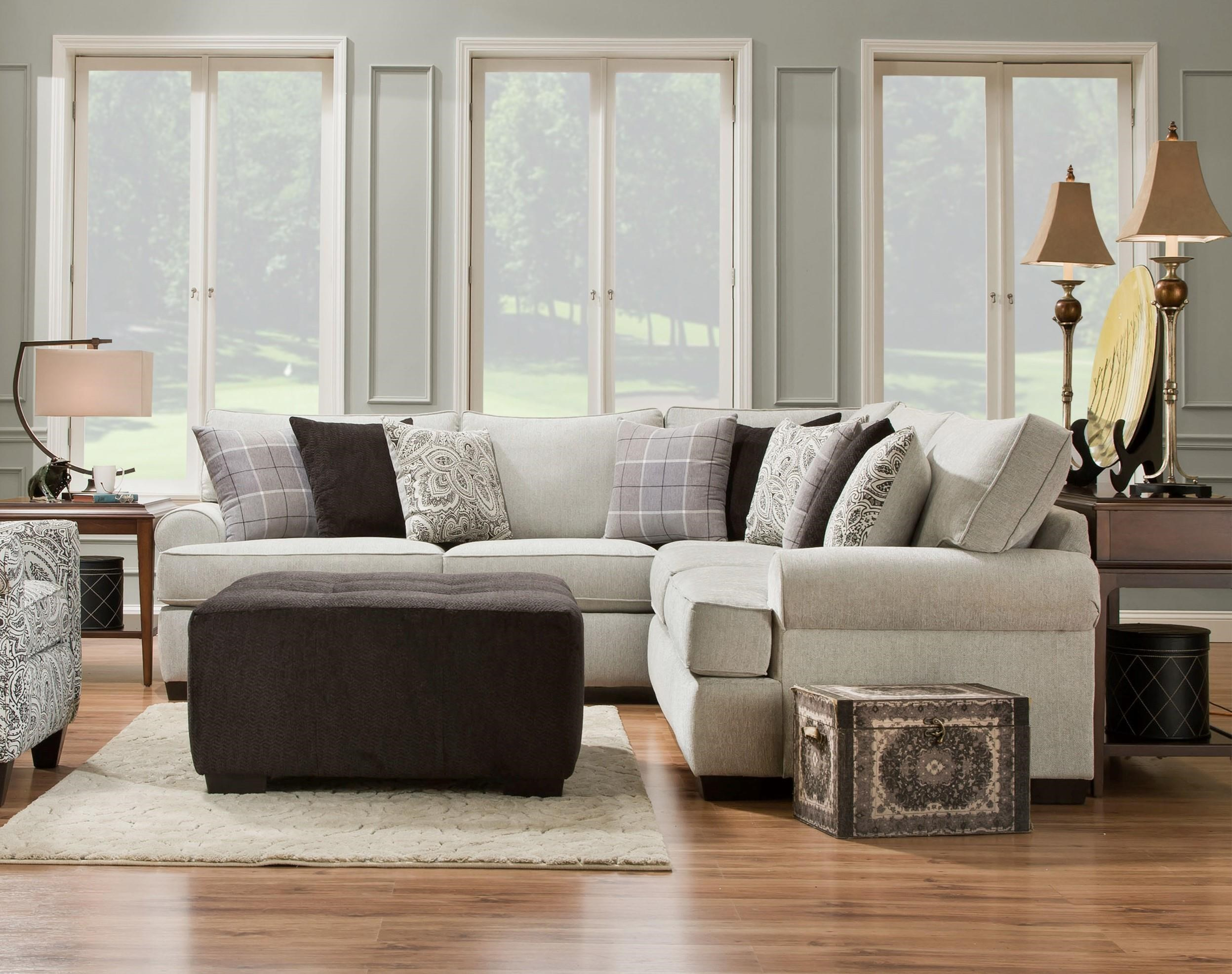 Attirant Corinthian Griffin2 Piece Sectional ...