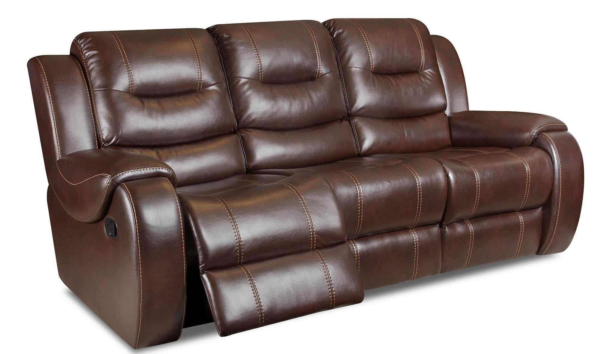 Corinthian El Dorado UmberReclining Sofa