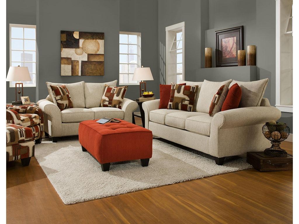Corinthian 65A0Love Seat Sofa
