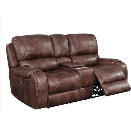 Glider Console Reclining Loveseat