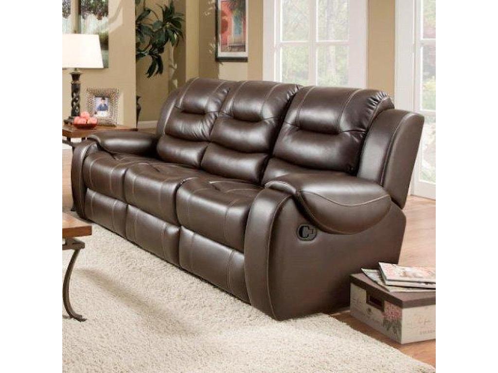 714 Reclining Sofa With 2 Seats By Corinthian At Furniture Fair North Carolina