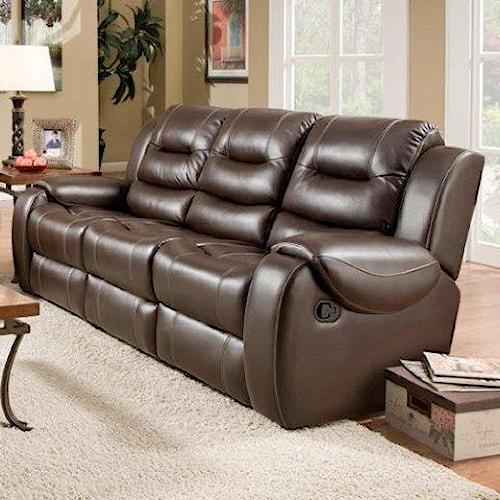 Corinthian 714 Reclining Sofa with 2 Reclining Seats