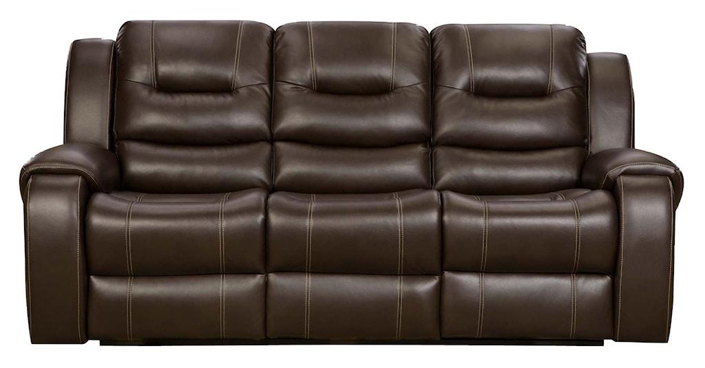 Madison Reclining Sofa With 2 Reclining Seats Belfort Furniture  ~ Two Cushion Reclining Sofa