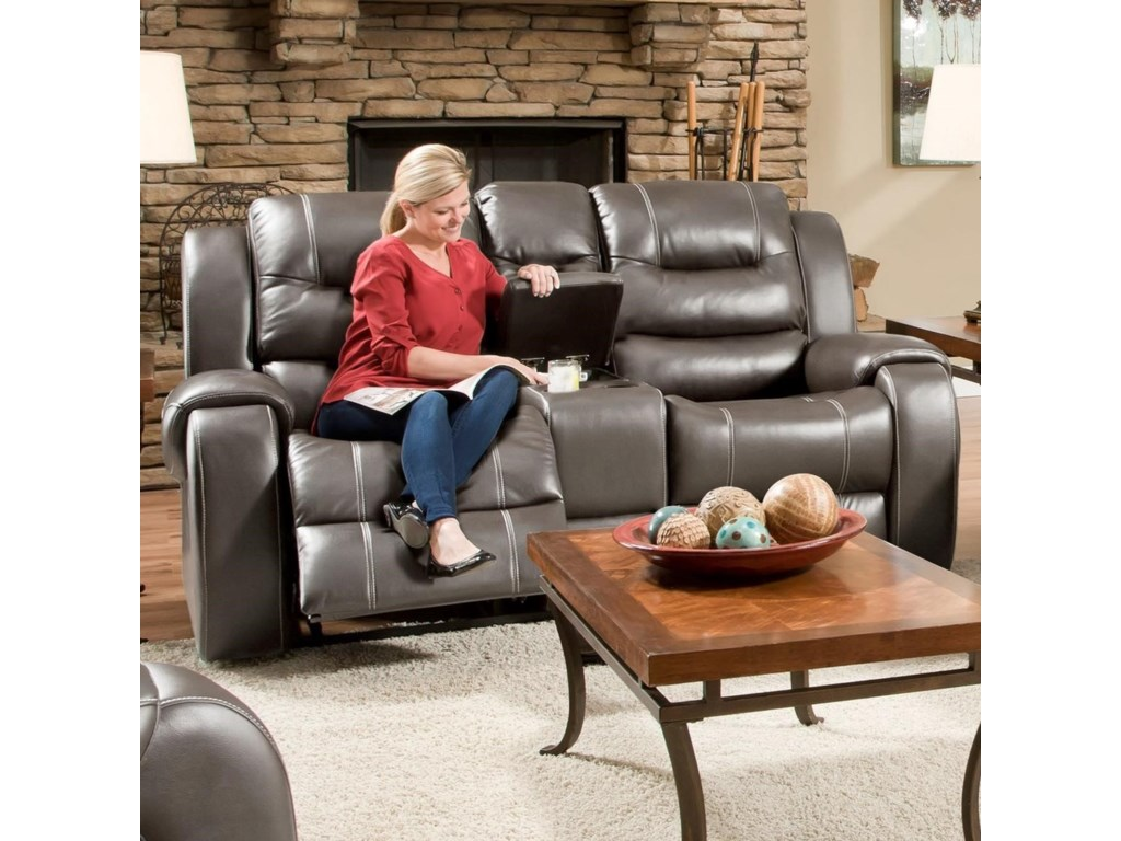 VFM Signature 71407Power Reclining Loveseat with Console