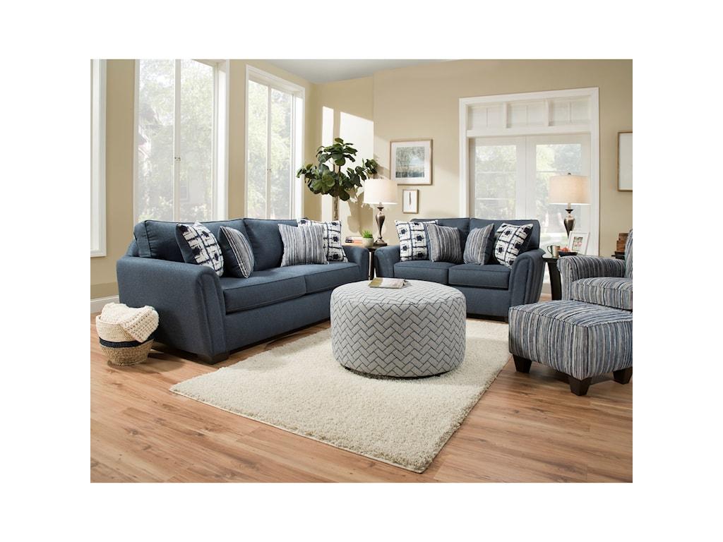 Corinthian 7380Two Seat Sofa