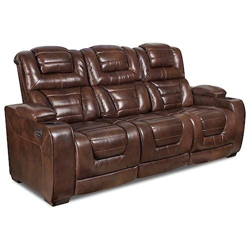 Corinthian 73901 Power Headrest Recline Sofa