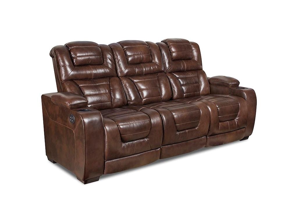Corinthian Desert ChocolatePower Headrest Reclining Sofa