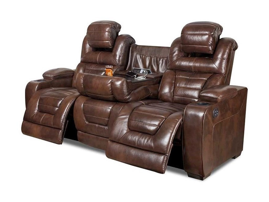 Corinthian Desert ChocolatePower Headrest Reclining Sofa