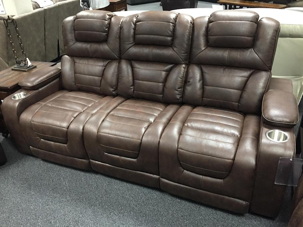 Corinthian 73901Power Headrest Recline Sofa