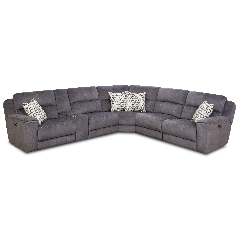 Corinthian 79003 Reclining Sectional Sofa (4 Recliners)