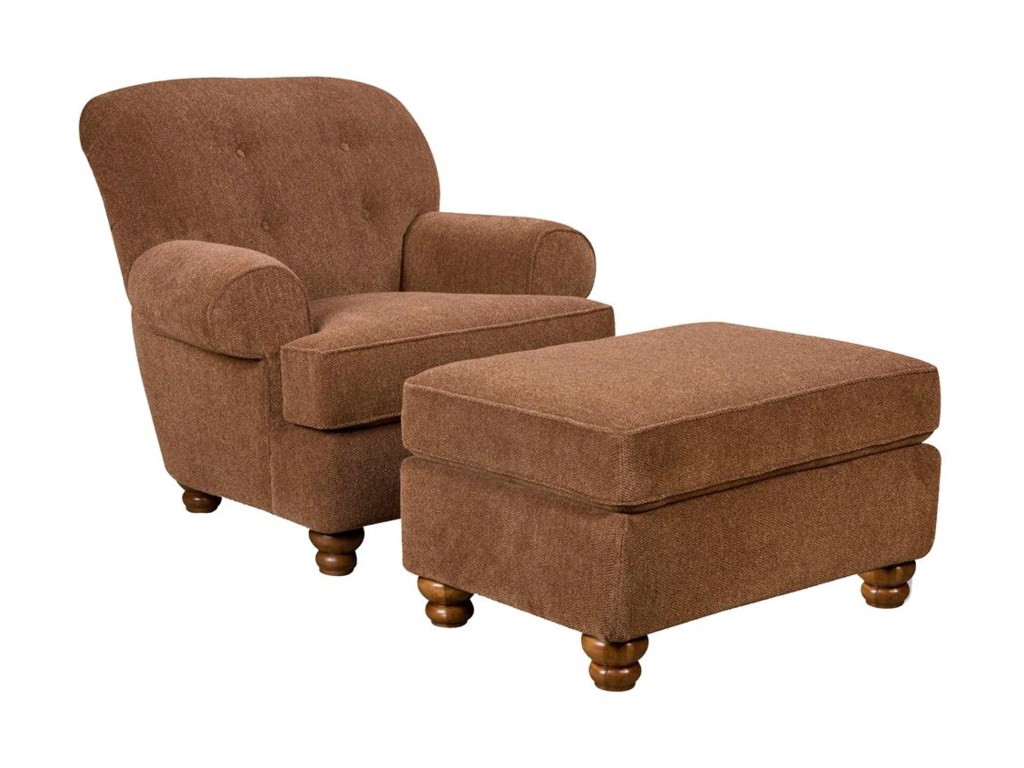 Corinthian 8000Accent Chair and Ottoman