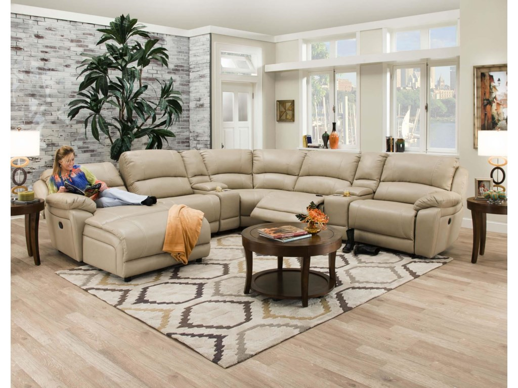 Corinthian 83204Reclining Sectional Sofa