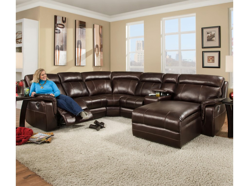 Corinthian 862Sectional Sofa with 5 Seats