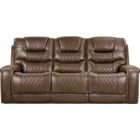Power Headrest Sofa with Drop-Down Table