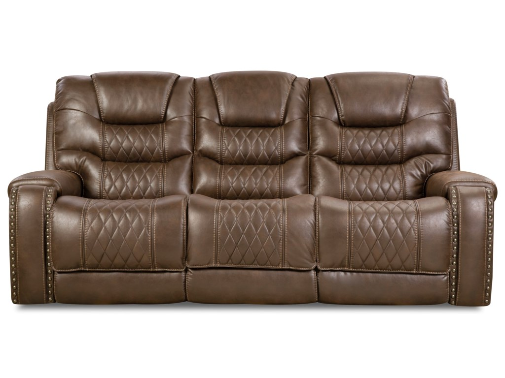 Corinthian SaharaPower Headrest Sofa with Drop-Down Table