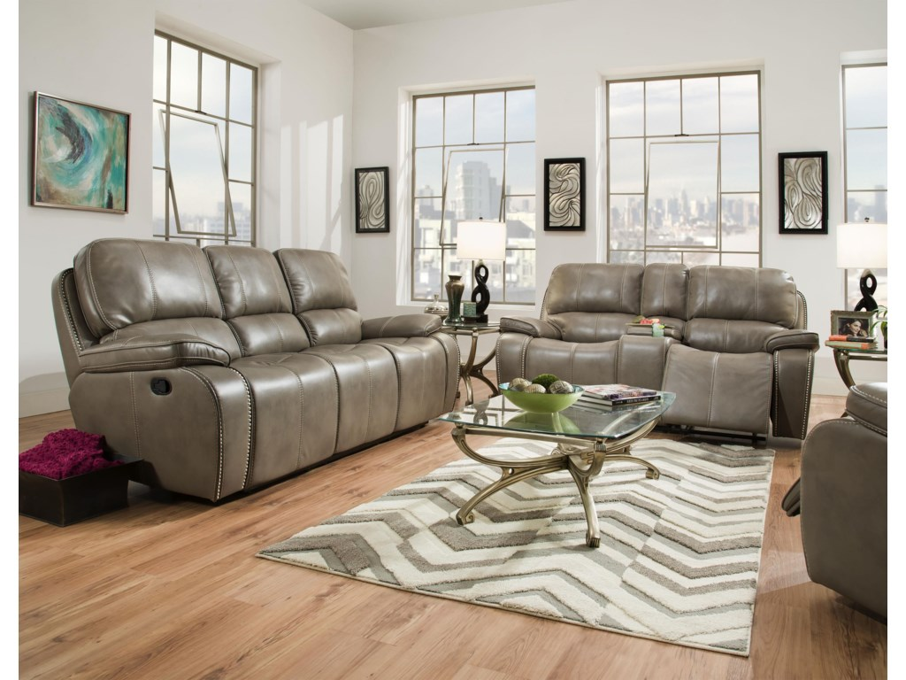 Corinthian Jamestown SmokeReclining Sofa