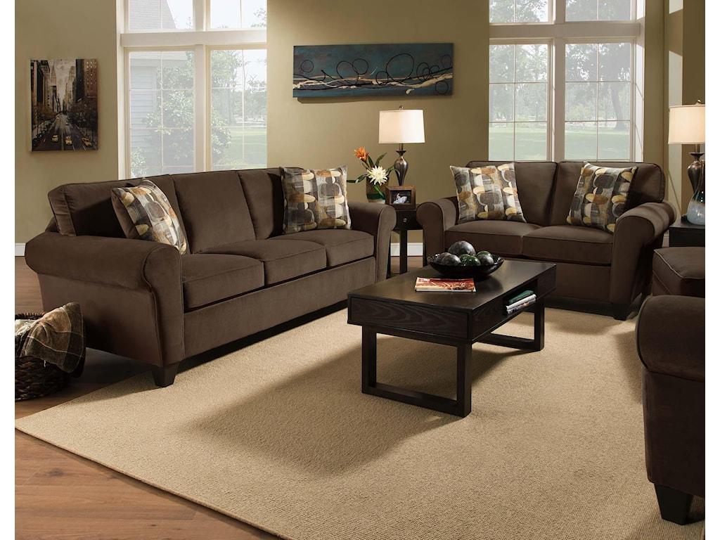 Corinthian 90BStationary Living Room Group