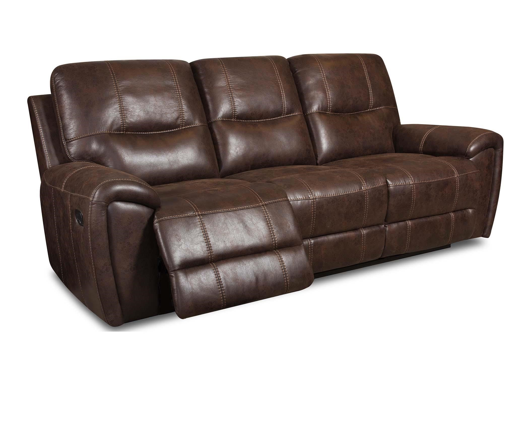 Corinthian DesertDesert Chocolate Reclining Sofa