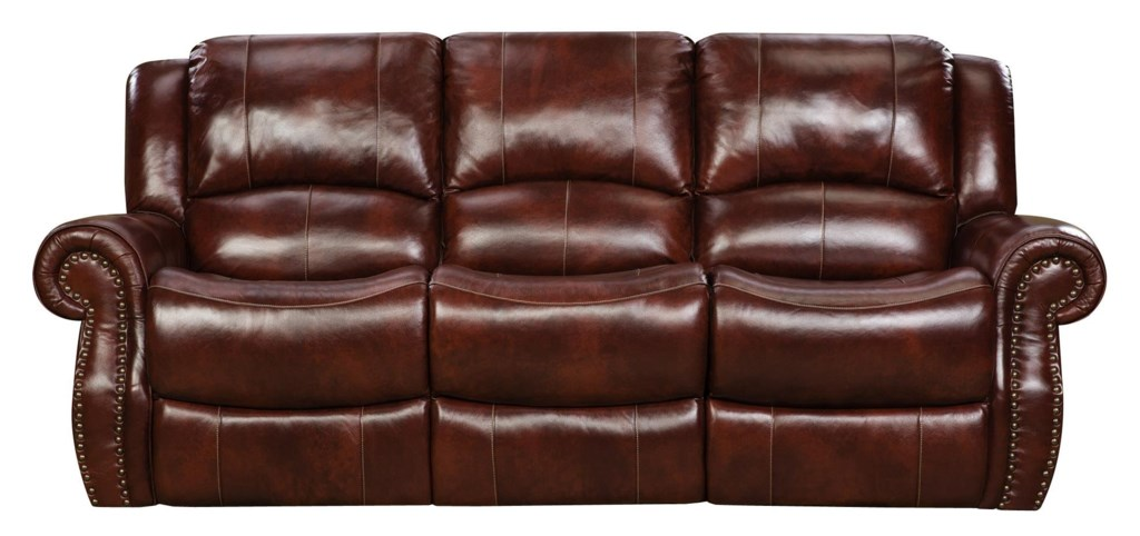 Leather Reclining Sofa Red Barrel Studio Piccadilly Air