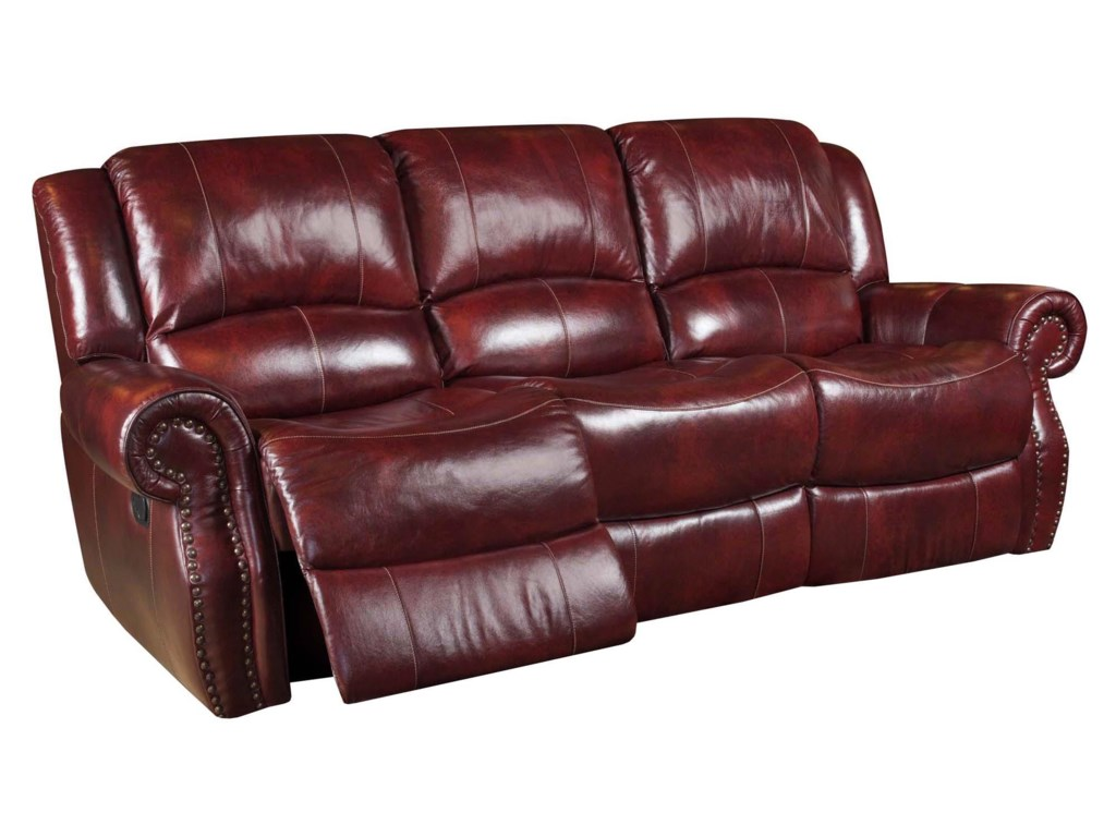 Corinthian Alexander Alexander Leather Reclining Sofa Great - Leather sofa reclining