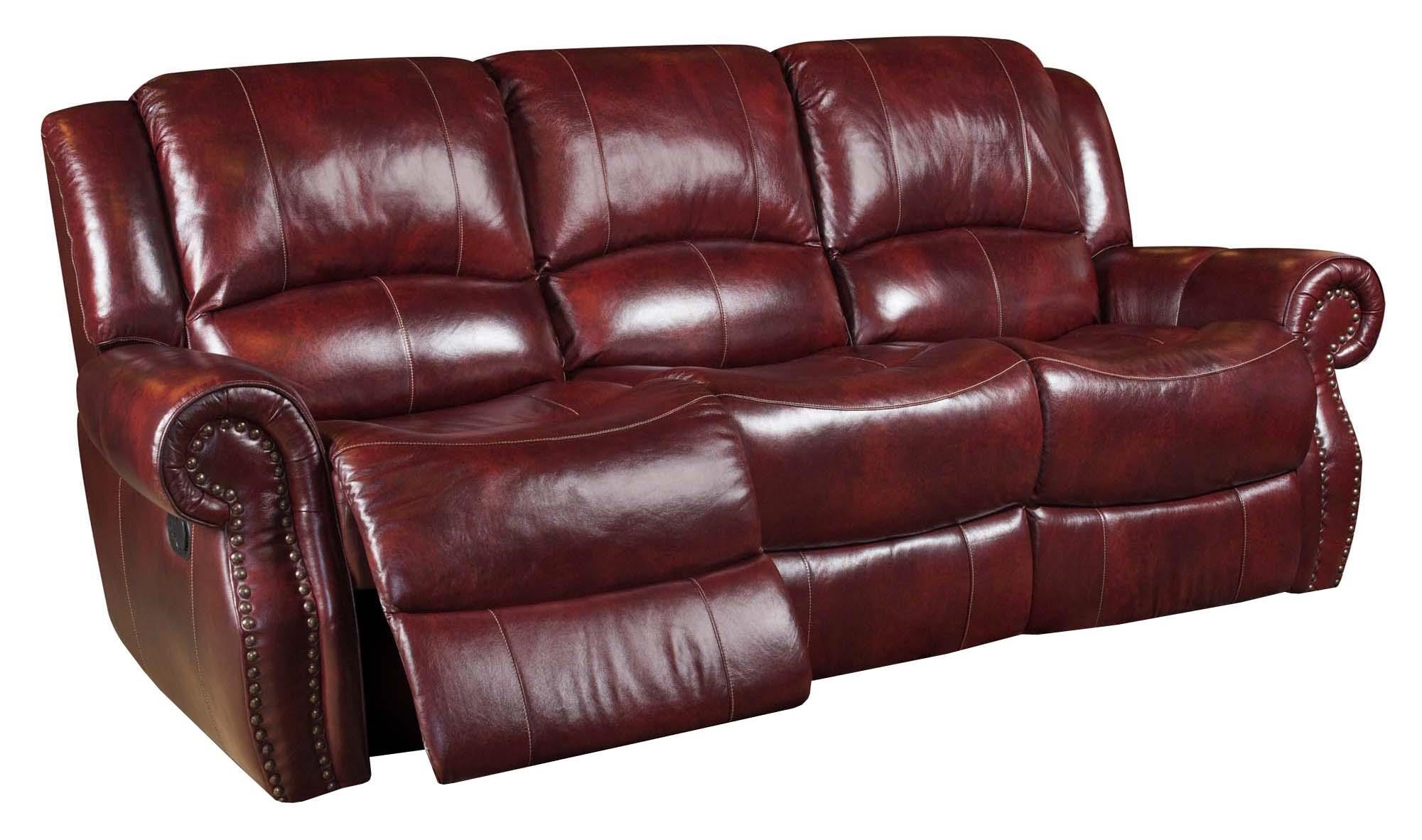 Corinthian Alexander CORI 99901 30,OXBLOOD Alexander Leather Reclining Sofa Part 63