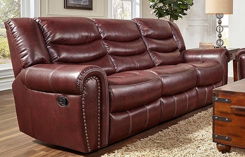 L655 Leather Reclining Sofa
