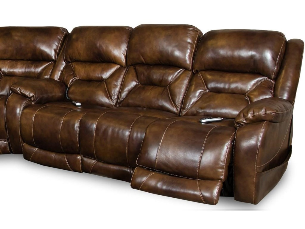 L94806 Leather Reclining Sofa by Corinthian at Furniture Fair - North  Carolina
