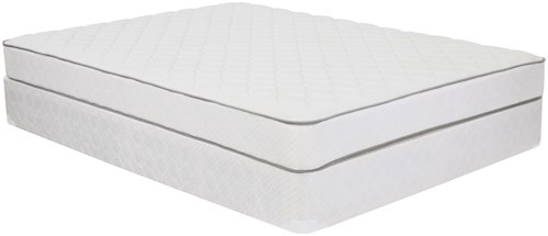 Corsicana 1005 Plush Twin Plush Innerspring Mattress and 9