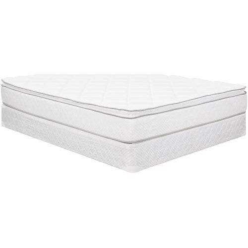 Corsicana 1025 Euro Top King Euro Top Innerspring Mattress and 9