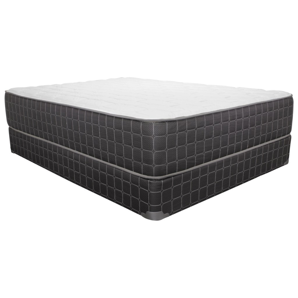Corsicana 1705pr Twin Plush Mattress And 5 Low Profile Wood