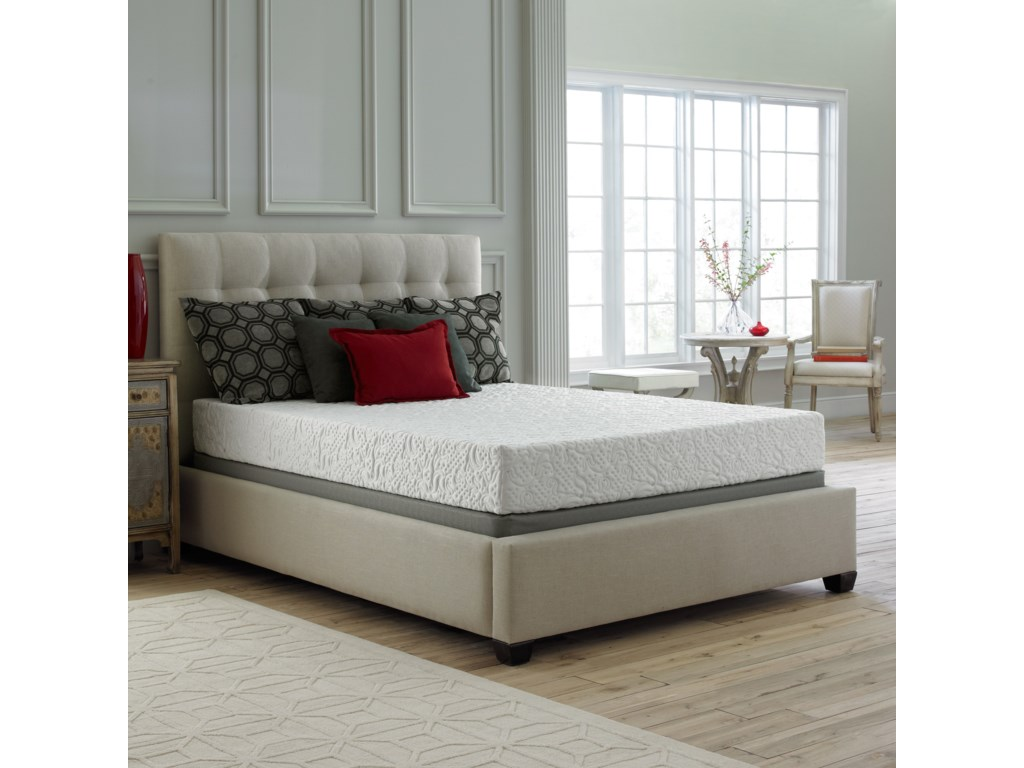 Corsicana 30SSQueen Gel Memory Foam Mattress Set