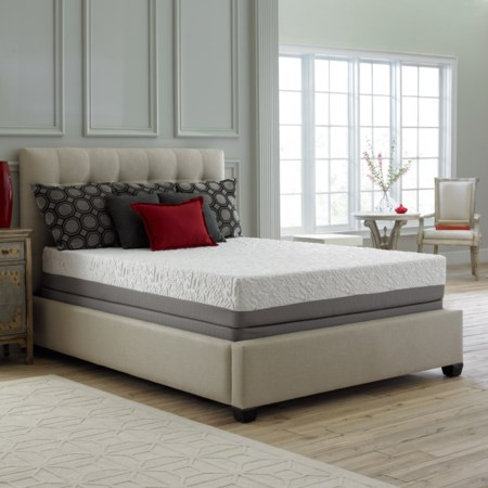 Queen Luxury Microcoil Hybrid Mattress Set